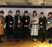 藍染の作業着を着ているのが藤村さんです。